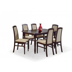Arnold bővíthető étkezőasztal Sötét dió 150-190x80x75 cm Azonnal szállítható