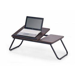B-19 Laptop asztal sötét Dió színben 60x34x23 cm