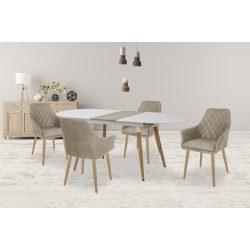 Caliber ovál tetős modern étkezőasztal 160-200x90x77 cm