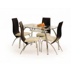 Corwibn Bis üvegtetős modern étkezőasztal 25x75x72 cm