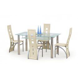 Cristal üvegtetős étkezőasztal  150x90x77 cm