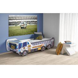 Digger autós gyermekágy 154-194x79x56 cm