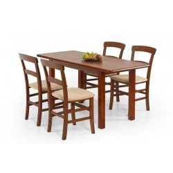 Dinner étkezőasztal Antik cseresznye színben 120-158x68x74 cm