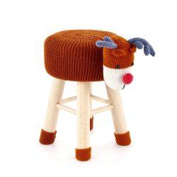 Dolly bárányos vagy rénszarvasos puff, 35x28 cm