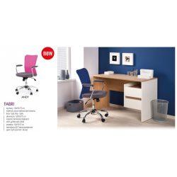 Fabri íróasztal mézestölgy-fekete színben 120x55x75
