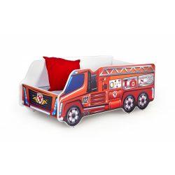 Firetruck autós gyermekágy 148x74x58 cm