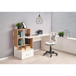 Grosso íróasztal aranytölgy-fehér színben 149x50x105