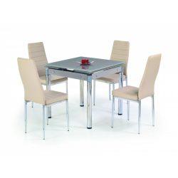 Kent üvegtetős bővíthető étkezőasztal 80-130x80x76 cm
