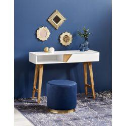 KN-1 íróasztal fehér-természetes fa színben 110x35x80