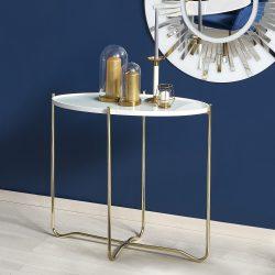 KN-2 íróasztal fehér-aranyszínben 83x38x74
