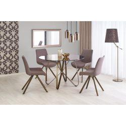 Lungo üvegtetős modern kör étkezőasztal Ø120x76 cm