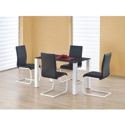 Merlot üvegtetős étkezőasztal 120x75x75 cm