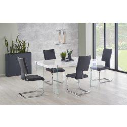 Milton egyedi Új MDF magasfényű étkezőasztal 160x90x76 cm