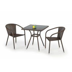 Mobil kültéri üveg asztal 70x70x74 cm