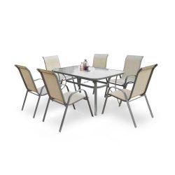 Mosler kültéri üveg asztal 150x90x72 cm