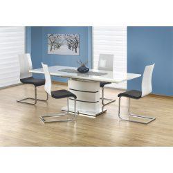 Nobel Fehér magasfényű bővíthető étkezőasztal 160-200x90x75 cm