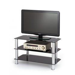 RTV-21 Tv-állvány fekete színben 80x40x50 cm