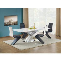 Sandor bővíthető magasfényű fehér étkezőasztal 160-220x90x75 cm
