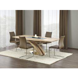 Sandor Sonoma bővíthető magasfényű étkezőasztal 160-220x90x75 cm