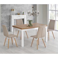 Tiago étkezőasztal Sonoma és Fehér színben 140-220-80x76 cm