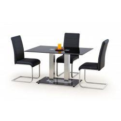 Walter 2 üvegtetős étkezőasztal fekete színben 130x80x74 cm