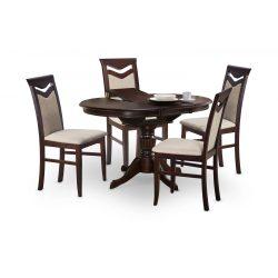 William rusztikus bővíthető étkezőasztal Dió színben 106-140x108x75 cm