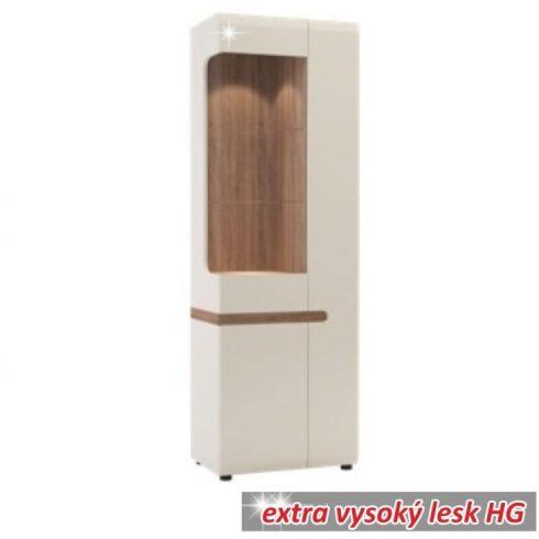 Lynatet TYP01 ajtós vitrin , fehér-extra magas fényű