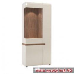 Lynatet TYP05 2 ajtós vitrin, fehér-extra magas fényű