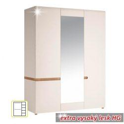 Lynatet TYP 22 Szekrény, fehér és extra magasfényű HG színben 164x59x209 cm