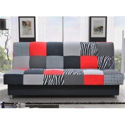 ALABAMA kanapé ágyfunkcióval és ágyneműtartóval, szövet piros 195x90x90 cm