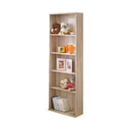 EMIO 08 Nyitott polcos szekrény, sonoma tölgyfa és fehér színben 59x25x175 cm