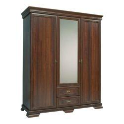 Kora KS2, 3 ajtós 2 fiókos tükrös szekrény Samoa King színben