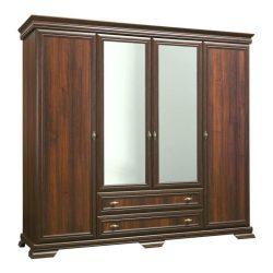 Kora KS3, 4 ajtós 2 fiókos tükrös szekrény Samoa King színben
