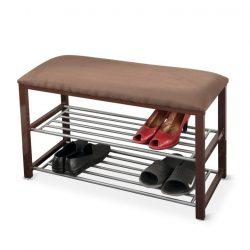 LANGELLA NEW cipőpolc lócával, csoki/sötétbarna / bézs/szürke / szürke és fehér színben ø81x49 cm