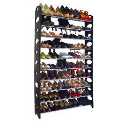 BOTIS TYP 4 10-soros műanyag és fém cipőpolc, szürke és fekete színben ø96x20x154 cm