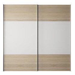 Gabriela Szekrény tolóajtókkal, sonoma tölgyfa/fehér vagy wotan tölgyfa/fehér színben, 201,6x62x20