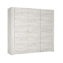 Angel TYP22 szekrény 3D, fehér craft színben 220,1x60x207 cm