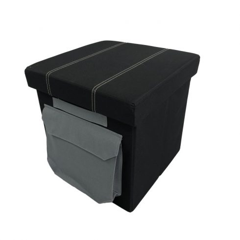 IDANA ülőke, fekete anyag, 49x32x52,5 cm
