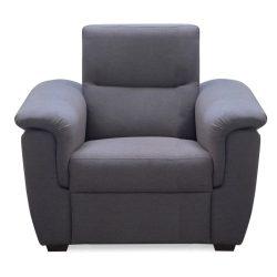 BORN elegáns relax fotel, sötétszürke színben 110x91x93 cm